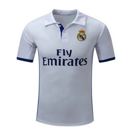 Wholesale DHL new Real madrid home jerseys Real madrid champions league home Running Jerseys White shirt