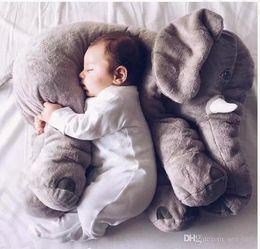 5 Color Elephant Pillow baby doll children sleep pillow birthday gift INS Lumbar Pillow Long Nose Elephant Doll Soft Plush 60*45*25cm