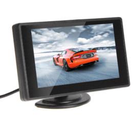 4,3 pouces TFT LCD couleur Parking vue arrière de voiture Moniteur de Rearview de voiture de sauvegarde Moniteur 4.3 '' Entrée 2 de la vidéo pour caméra de recul DVD à partir de moniteur de sauvegarde vidéo fabricateur