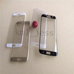 Hot NewestTransparent Color Tempered Glass For Samsung Galaxy S7 Edge 9H Hardness 3D Curved Surface Full Body Screen Protector Film