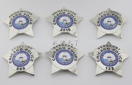 Wholesale 2016 New Arrival DETECTIVE Badge The United States of Chicago PD SERGEANT Badge Styles High Quality Metal Badge Retail Free Ship