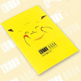 Wholesale 24P Cartoon Poke Pikachu Notebook Notepad Diary Planner For Children Kids Japan Stationery Gifts School Office Supplies Paper Product SH N01