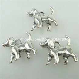 Wholesale 18340 Alloy Antique Silver mm Mini Pet Baby Dog Animal Pendant Charm