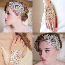 Wholesale Shiny Two Use Hand Chain Hair Accessories Beaded Sparkle Bridal Hand Chain New Arrival Fashion Wedding Accessories