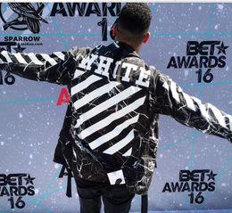 Wholesale New off white men jacket High Quality Hip Hop skateboard Camouflage jacket ape tops thrasher Lovers Men s Clothing