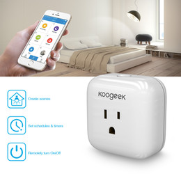 Wholesale Koogeek Home Smart Plug WiFi Enabled with Apple HomeKit Technology Support Siri Control Electronics Monitor Energy Consumption P1