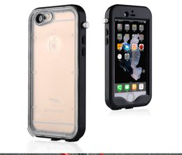 Waterproof pc + silicone case For Iphone 5 se 6 6s plus with Optical lens Diving bag Water Proof Pouch transparent Black white