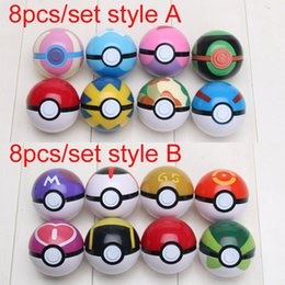 Wholesale 5cm Pikachu Pokeball Figures Poke Ball Toys ABS Action Toy Figures Collections Model Toys Kids Toys
