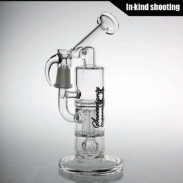 Wholesale 14 mm Mini Pillar Perc with Straight Base by Sovereignty Glass bong water pipes bongs recycler oil rigs dab rig bubbler pipe Sidecar rigs