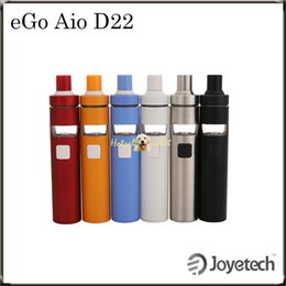 Wholesale Joyetech eGo AIO D22 Kit with ml e Juice Capacity Being All in one Style Newly Added Childproof Lock System Original DHL Free