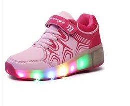 Wholesale High Quality Children Roller Skates Boy Girl Automatic One Wheel Shoes Kids With LED Lighted Flashing Sneakers Roller Shoes