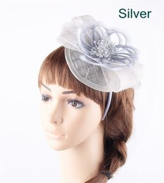 Wholesale Enchanting colors available sinamay base with feather material fascinator headpiece dance headwear party millynery OF151211