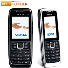 Original Nokia E51 Mobile Phone Support Arabic   Russian keyboard single core bar GSM 2.0 inch refurbished mobile phones