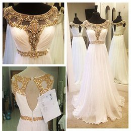 Latest Looking of New Arrival White Beaded Long Prom Party Evening Formal Gowns Pageant Dresses Custom