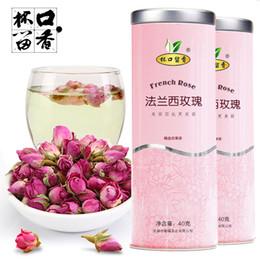 New 100% Organic Rose française de qualité supérieure bourgeons de roses florales à base de plantes de santé déshydratée de thé chinois pour les femmes Ladys Anti-Aging Tea 40Grams à partir de nouveaux bourgeons floraux fabricateur