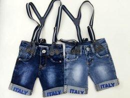 Wholesale Hot Summer Children Infant Boys Short Jeans Elastic Meterid Denim High Qualilty Baby Kids Clothing Factory Supply
