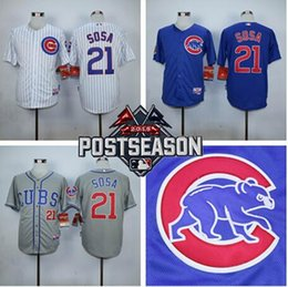 Wholesale 2016 Mens Sammy Sosa Jersey Embroidery Logos Chicago Cubs Baseball Vintage China Best Quality Authentic Aimee Smith Store