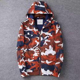 Wholesale Men s new windjacket rain jacket famous brand good quality Camouflage
