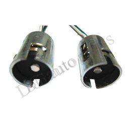 Wholesale 100pcs S25 Car Parts Socket Xenon LED Light Bulb Car Truck Connector Extension S25 BA15S Auto Parts Connector Adapter