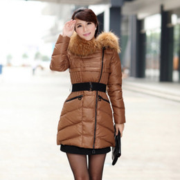 Women Parka Coat Real Fur Trim Hood Winter Coat Pure White Duck Down Long Parka Plus Size