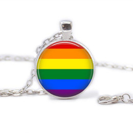 Wholesale gay pride necklace same sex lgbt jewelry gay lesbian pride with rainbow love wins gift same sex marriage equal marriage