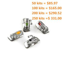 50 Kits=200 pieces Dental Buccal Tubes Non-convertible Dental Bondable 018 022 1st Molar 4 pcs kit New Free Shipping
