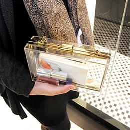 2017 la moda bolsas de plástico transparentes 2016 Verano Moda Transparente Plástico Bolso Noche Bolso Claro Acrílico Metal Frame Partido Caja Embrague Messenger - DT001 la moda bolsas de plástico transparentes en venta