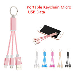 Wholesale 2016 in CM Portable Keychain Micro USB Data Connector Mobile Chargers Cable for samsung S6 edge S plus CAB134
