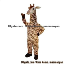 Wholesale Giraffe Mascot Costumes Cartoon Character Adult Sz Real Picture