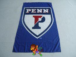 Quakers PENN Large Feet University of Pennsylvania Flag Custom Team Flag