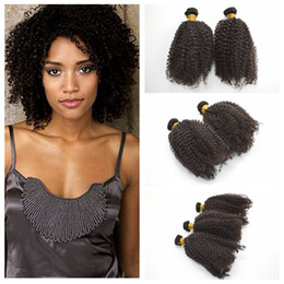 Brazilian Curly hair weave Wefts 6Pcs Kinky Curly Human Hair Weave Curly hair products G-EASY On Sale