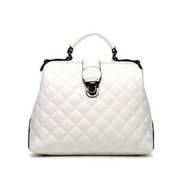 Promotion chaîne grand sac Européenne et American Style Femmes sacs à main de grande capacité chaîne diamant Lattice Sacs PU Ladies cuir épaule classiques Sacs