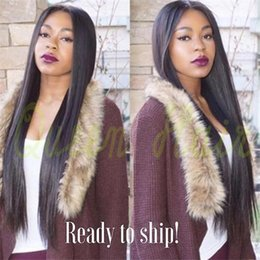 6A Lace Front Wigs For Black Women Brazilian Long Straight Glueless Full Lace Human Hair Wigs With Baby Hair Natural Hairline