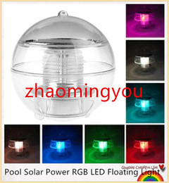 YON New Waterproof Pool Solar Power RGB LED Floating Light Lamp 2V 60mA Outdoor Garden Pond Landscape Color Changing Night Lights