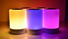 L7 Smart Night Lamp Deep Stereo Bass Wireless Bluetooth Speaker FM Audio Player Music Loudspeaker Colorful LED Light SD Card PC