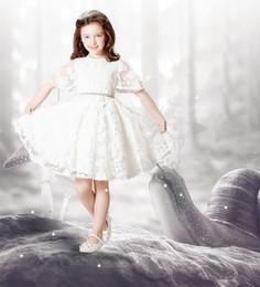 2016 A line Tank Sleeveless Tulle White Ivory Satin Flower Girl Dresses for Weddings First Communion Dresses