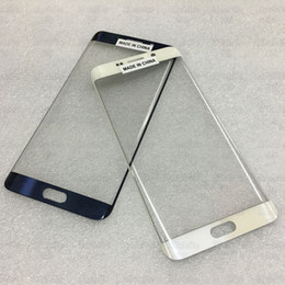 Wholesale Original Front Glass Parts Replace For Samsung Galaxy S6 Edge Plus G9280 Outer Touch Screen Replacement Repair Tool Kits Sticker Freeship