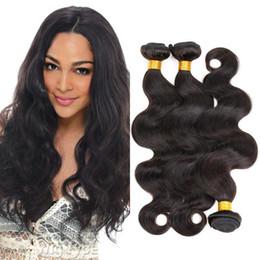 "8A Clearance Price Body Wave Peruvian Hair Bundles 8""-30"" 3PCS Hair Weave #1B Real Human Hair Peruvian Body Wave Beautiful Forever"