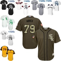 Wholesale White grey black Green Jose Abreu Jersey Men s Chicago White Sox Cool Base Home Salute To Service Turn Back The Clock