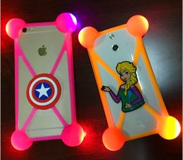 Wholesale Universal D Cartoon LED Lamp Bumper Case Minions Luminous Soft Silicone Protector for iPhone s plus Samsung S7 ZTE Zmax Pro Coolpad