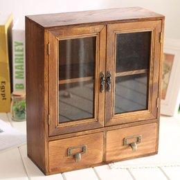Wholesale Cabinet Desk Organizers - Retro Cabinet Desk Organizer 36*12*30.8CM
