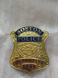 Replica police cop metal badge high quality united States Boston detective insigna patch