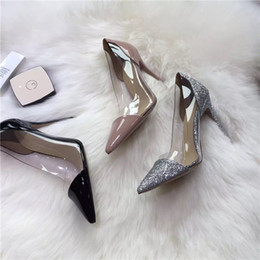 Wholesale High heel dress shoes heel height cm beauty s best love original copy same quality material sheepskin inside genuine leather tread