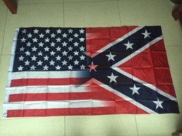 Wholesale 50pcs American Flag with Confederate Rebel Civil War Flag x5ft new style hot sell x150cm