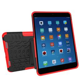 free shipping dazzle case for xiaomi pad2 mipad 2 hybrid kickstand case tpu + pc protective combo cover case