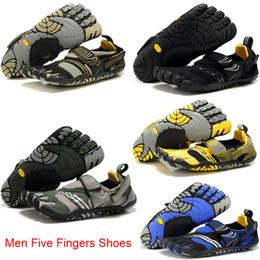 Wholesale Nuevo Zapatos de escalada de montaña caliente del envío libre hombres Cinco zapatos de los dedos dedos toca con la punta de escalada en roca zapatos zapatillas de deporte al aire libre por las que pasear