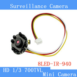 Pinhole Camera 1 3 HD Mini CCTV Audio IR Camera Security Surveillance Micro 700TVL Night Vision Camera 8 LED surveillance cameras