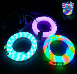 Wholesale 100Meters LED flexible Neon sign strip soft tube lights RGB leds m AC V V building bridge decotation LED Sign