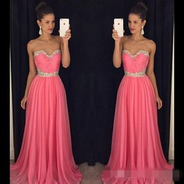 Cheap Bridesmaid Dresses 2020 Evening Dresses Sweetheart Ruffled Chiffon A Line New Arrival Party Dresses Evening Gown with Crystals