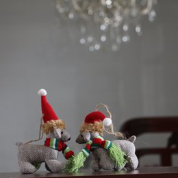 Christmas toys handmade plush toys Christmas gifts toy dog cute plush toys